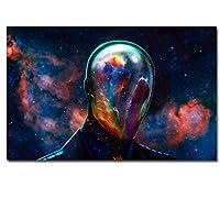 HDプリントキャンバスアート抽象文字サイケデリック星雲スペース絵画装飾絵画-40×60センチフレームなし