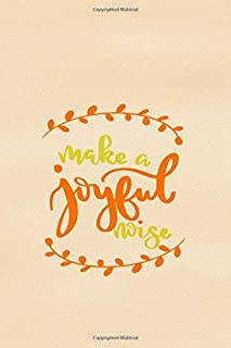 Make A Joyful Noise: Blank Lined Notebook :Bible Scripture Christian Journals Gift 6x9 | 110 Blank Pages | Plain White Paper | Soft Cover Book