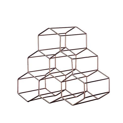ZTBXQ Accueil Ustensiles de Cuisine Gadgets Casier à vin en métal autoportant empilable Finition cuivre Chrome (6-7 Bouteilles) Or Noir Bronze Multi-Style (Taille: