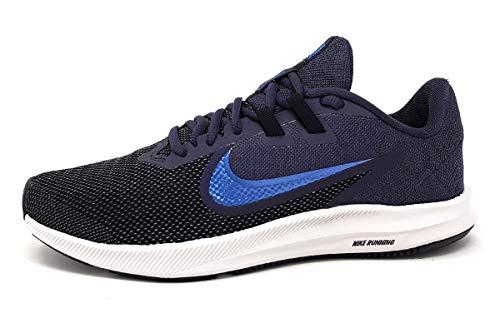 Nike Downshifter 9, Zapatillas de Atletismo Hombre, Multicolor (Gridiron/Mountain Blue/Black 011), 44 EU