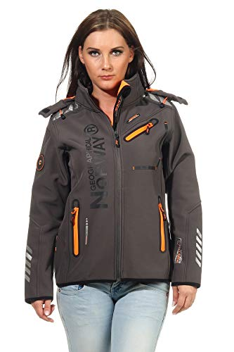 Geographical Norway Rose & Tansy - Chaqueta de softshell para mujer, transpirable,...
