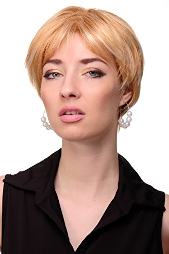 WIG ME UP - Perruque dame courte volumineuse raie blond miel blond platine mèches GFW1863-144EH613A