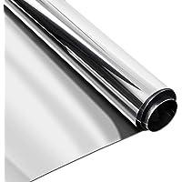 Homein Vinilo Ventana Cristal Protector Solar Película de Espejo Adhesiva Unidireccional Pretcción de Privacidad Reflectante para Sol Anti 99% UV y Anti 85% Calor para Hogar y Oficina 90 x 200cm