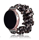 Magwei Band Compatible with Samsung Galaxy Watch Active/Active2 40mm/44mm, Scrunchie Wristband Replacement Compatible for Galaxy Watch 42mm/Gear S2 Classic/Gear Sport Smart Watch (Leopard print new)