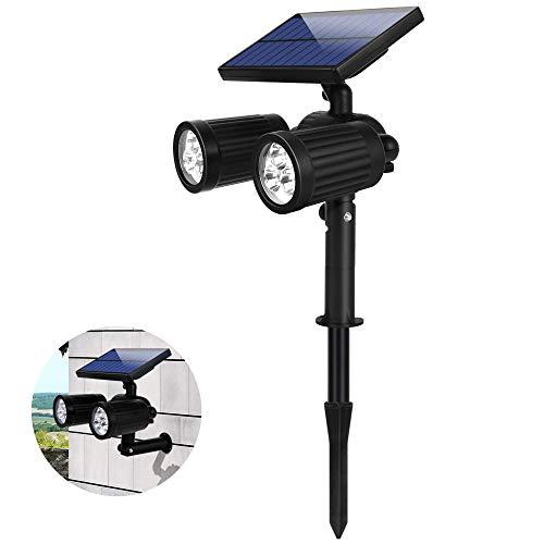 Garten Solarleuchten für Außen Super Hell Solarlampen für Außen Garten IP65 Wasserdicht 2 Lichtmodus + 350° Einstellbarer LED Solar Gartenleuchte für Terrasse Rasen Garten Hofwege (1 Pack)