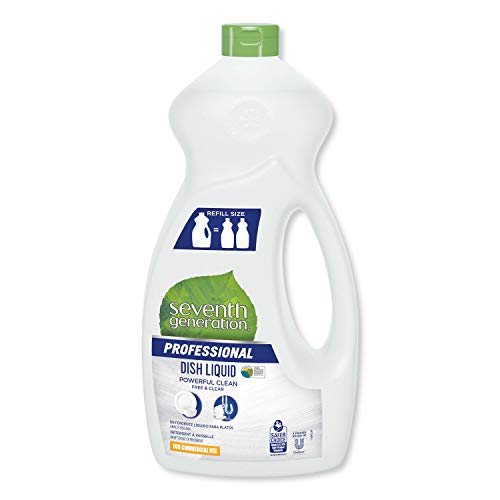 Seventh Generation Professional Jumbo Free and Clear Liquid Dish Detergent, 50-Oz Bottle