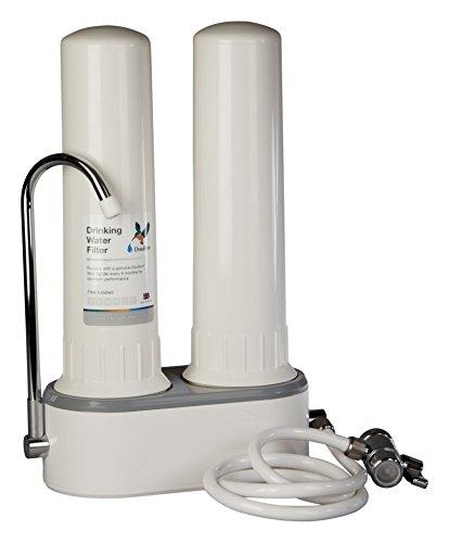 Doulton HCP Double W9380003, Filtro purificador de agua, doble, sobre encimera, de...