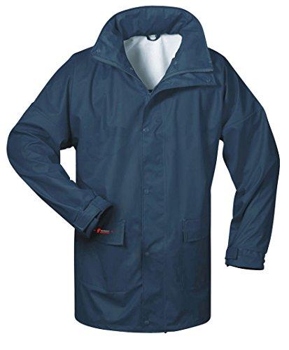 Norway PU Regen-Jacke mit Kapuze - Marine - Größe: 4XL ?