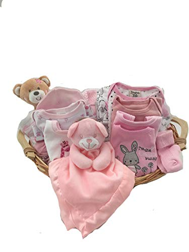 Bébé Fille layette – Panier cadeau Panier
