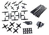 Aqua Control KITG002 Pack Básico de Accesorios de 4 mm. para Todo Tipo de riego por Goteo Gota, Negro