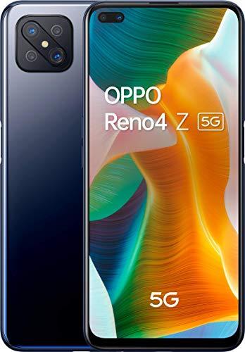 """OPPO Reno 4Z 5G – Pantalla de 6.57"""" (120 Hz de pantalla, 8GB/128GB, MTK 800 5G, 4000mAh, Android 10) Negro [Versión ES/PT]"""