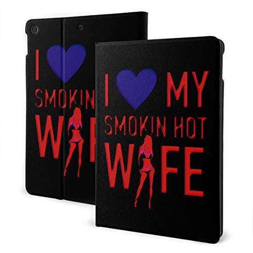 Love Smoking Hot Wife iPad 7th Generation Case iPad 10.2'' Cute Shell Smart Cover Auto Wake/Sleep