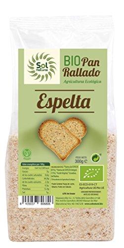 SOLNATURAL Pan RALLADO DE ESPELTA Bio 300 g, No aplicable