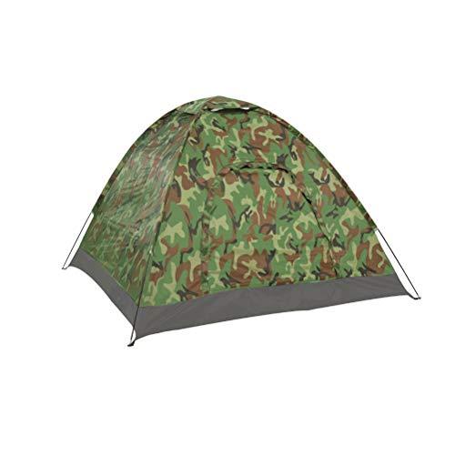 ABOOFAN Tienda de campaña de camuflaje para senderismo, tienda de campaña, impermeable, ligera, portátil, para senderismo al aire libre (color al azar)