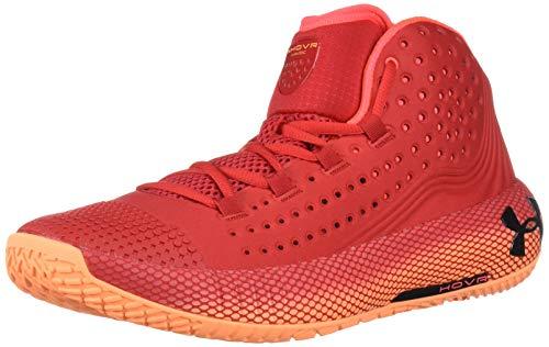 Under Armour UA HOVR Havoc 2, Zapatos de Baloncesto para Hombre, Rojo (Red/Glow Orange/Black (600) 600), 43 EU