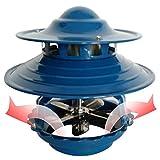 GuoYQ Ventiladores Inductores de Techo, Ventilador Extractor de Chimenea, Extractor de Chimenea Bomba de Humo, 100 Vatios, Azul