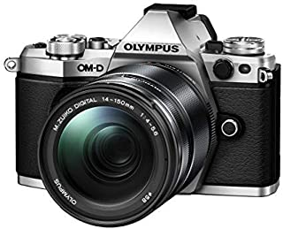 "Olympus OM-D E-M5 Mark II Weather Sealed Kit with 14-150mm Lens, 3"" LCD, Silver"