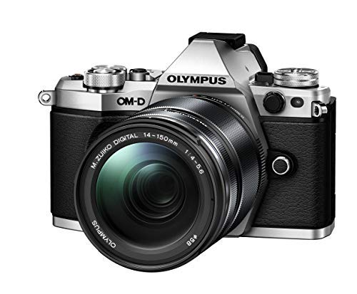 Olympus OM-D E-M5 Mark II Weather Sealed Kit with 14-150mm Lens, 3' LCD, Silver, US Only