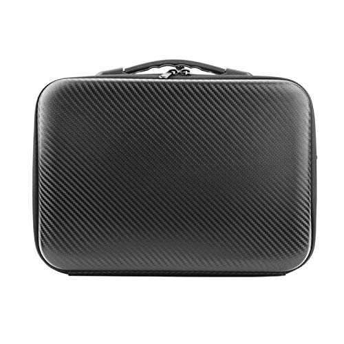 Buyfunny01 Storage Bag Carrying Box Mesh Pocket Handbag Container RC Quadcopter Accessories Single Shoulder Home Travel Crossbody Double Zip Waterproof For FIMI X8SE 2020(PU Leather)