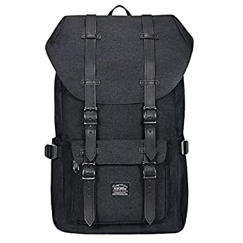 Travel Laptop Backpack Outdoor Rucksack School backpack Fits 15.6  Linen Black