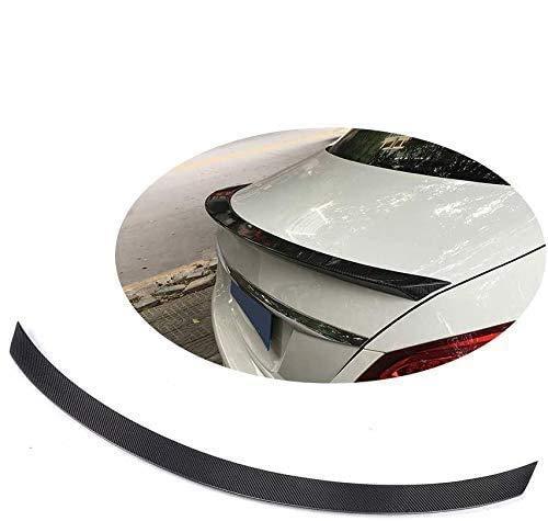 HOUGE Black Car Rear Spoiler For Mercedes-Benz C-Class W205 C63 Amg C200 C250 C300 C400 Trunk Lid Wing 2014-2017, Universal Carbon Fiber Modified Roof Extension Lip