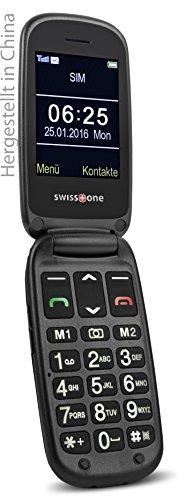 swisstone BBM 625 GSM-Mobiltelefon mit großem beleuchteten 6 cm (2,4 Zoll) Farbdisplay und zusätzlichem Außendisplay (Kamera/Bluetooth/Notruftaste/Micro-SD)
