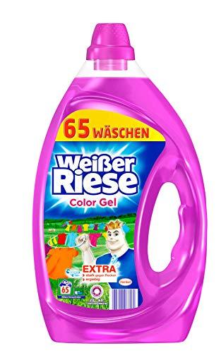 Weißer Riese Color Gel, Flüssigwaschmittel, 2er Pack (2 x 3,25 Liter à 65 Waschladungen)