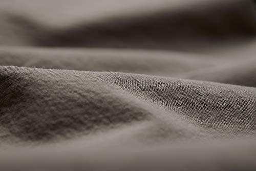 L1NK STUDIO Sabana Bajera Ajustable Cama 105 cm (105x200x35cm) 100% algodón (Percal 200 Hilos) Taupe