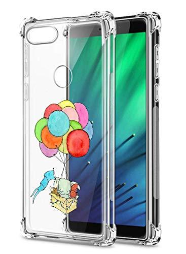 Oihxse Crystal Coque pour Xiaomi Redmi 8A/Xiaomi Redmi 8 Transparent Silicone TPU Etui Air Cushion Coin avec Motif [Elephant Lapin] Housse Antichoc Protection Bumper Cover (A16)