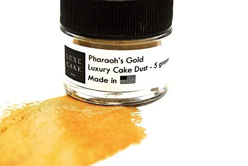 Pharaoh's Gold Edible Cake Luster Dust, 5 grams, USA Made
