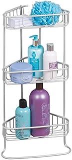 mDesign étagère d'angle Salle de Bain sans perçage – étagère de Douche sur Pied pour shampooings, gels Douche, etc. – serv...