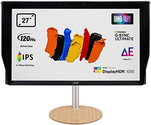 Acer ConceptD CP7271KP LED display 68.6 cm (27') 3840 x 2160 pixels 3D 4K Ultra HD IPS Flat Black ConceptD CP7271KP, 68.6 cm (27'), 3840 x 2160 pixels, 4K Ultra HD, 3D, 4 ms, Black