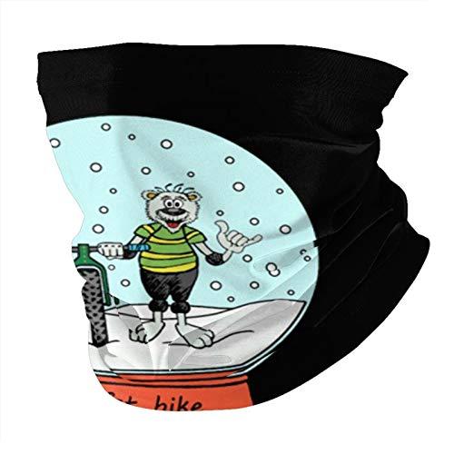 Snowball - Fat Bike Unisex Neck Gaiter Warmer Windproof Sports Bandanas Face Mask Black