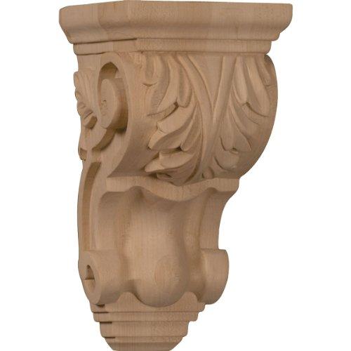 Ekena Millwork CORW03X04X07TAAL 3 1/2-Inch W x 4-Inch D x 7-Inch H Small Traditional Acanthus Corbel, Alder