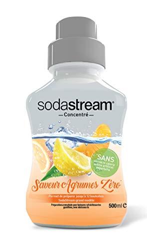 Sodastream Concentré Saveur Agrumes Zéro – Sans Sucres, Sans Calorie, Sans Arôme Artificiel et Sans Aspartame – 500 ml