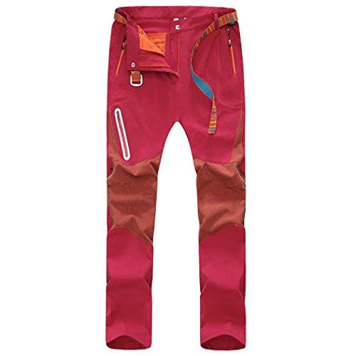 Walk-leader pour femme Outdoor coupe-vent randonnée escalade Pantalon/Pantalon - Rouge - Medium