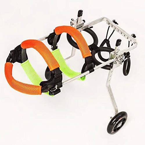 Khuy rolstoel, voor honden, 2 wielen, verstelbaar, voor rolstoel, dieren, rugmand, geparalyseerd, voor katten, honden, katten, puppy's (XXS), XS
