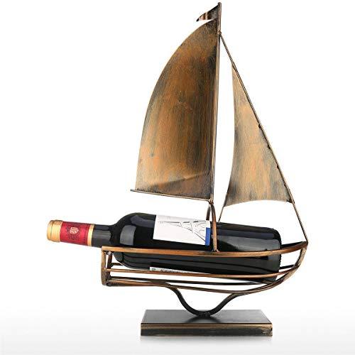 R&Xrenxia Soporte De Botella De Vino De Vela Arte De Hierro Europeo Creativo Vino Rack Clásico Botella De Almacenamiento Tenedor De Almacenamiento Práctico Decoración