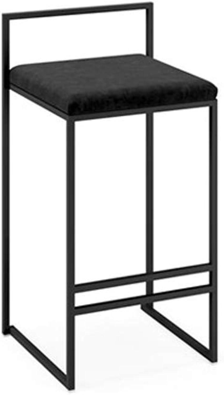 Hai Yan Boutique Nordic Bar Stools Bar High Bar Stool Bar Chair Lounge Chair Restaurant Chair Cafe Chair (color   Black)