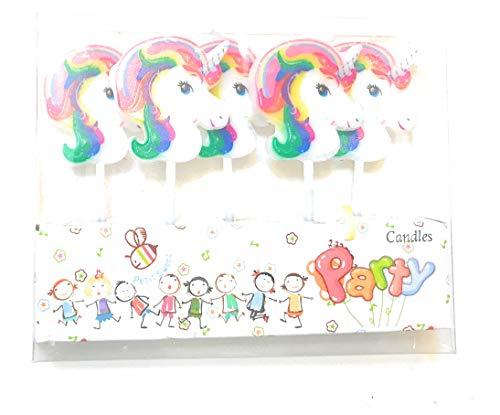 CharmTM Set of 5 Unicorn Emoji Birthday Candles Kids Party Decorations