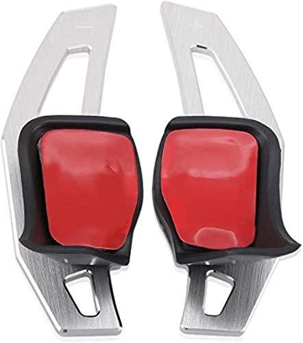 FXNB Dsg Paddle Extension Lenkradschaltpaddel Für Vw Käfer Scirocco Touareg EOS Sharan Tiguan R36 Golf 5 6 GTI Polo Jetta,Silver,Silver