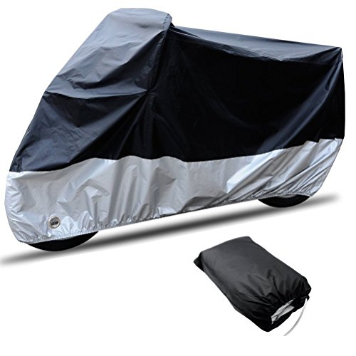 CARSUN All Season Two-colour Design Outdoor/Indoor Waterproof Motorcycle/Bike Cover, with Lock (SIZE 1-86.6'x37.4'x43.3')