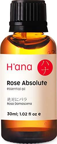 Aceite esencial de rosa - Grado terapéutico 100% puro para aromaterapia, cuidado de la...