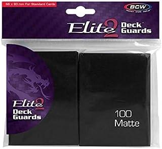 BCW Deck Protectors Standard - Elite2 - Matte - Black (100 Sleeves Per Pack) Card Sleeves