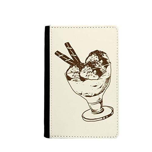 Étui portefeuille en verre à glace avec boule de chocolat marron