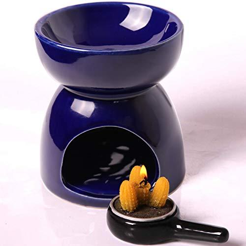 AI·X·IANG AIXIANG - Portavelas de cerámica para aromaterapia, quemador de aceites esenciales, gran decoración para salón, balcón, patio, oficina, porche y jardín, Quemador...