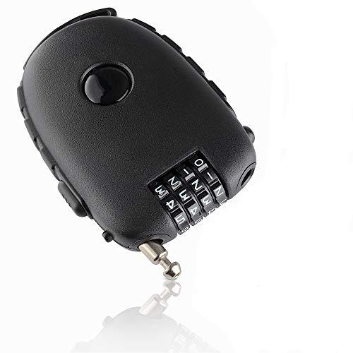 Safelocks kompaktes Kabelschloss, Zahlenschloss mit Drahtseil (90cm), Schloss mit 4-stelligem Zahlencode - ideal als Scooterschloss, Fahrradschloss