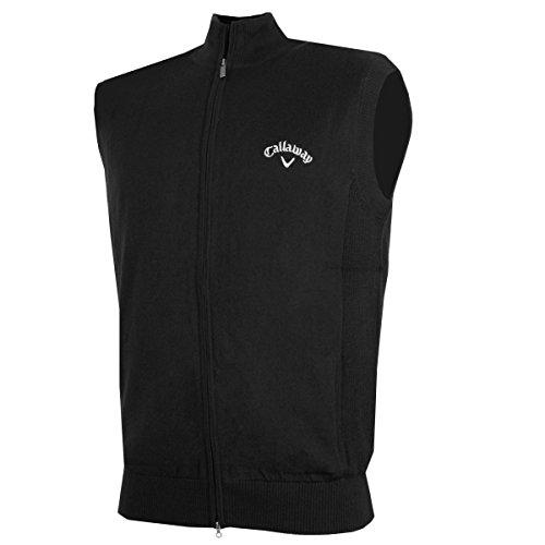 Callaway 2017 Mens Golf Full Zip Windstopper Vest Thermal Sweater 010 Large
