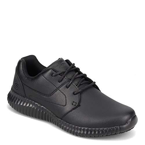 Skechers Men's Cessnock Lival SR Food Service Shoe, Black, 8