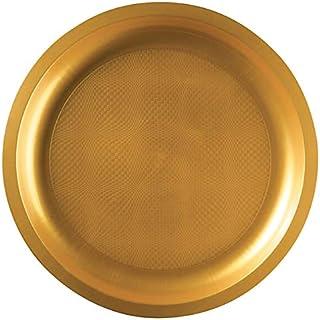 goldplast 10 Assiettes Rondes incassables Blanches 22cm REF//52750